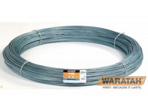 LONGLIFE BLUE® HIGHThe strongest high tensile fence wire available from Waratah. Larger diameter wire with a high breaking strain, recommended where strength is vital. Suitable for fences with long strains and wider post spacings. Requires correct tensioning to allow the fence to act as a suspension fence. Use in high pressure situations. Use as a top wire in all fences where falling branches, cattle or other large animals pose threats of pressuring or breaking through the fence. TENSILE