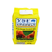 FREE RANGE SCRATCH MIX (Laying Hen, Ducks) Grain mix with nutrient shortcut pellet containing essential nutrients required by Laying Hens.  Can be fed as a treat and or on its own or blended with Free Range Layer Pellets and Poultry Supreme as a blend.
