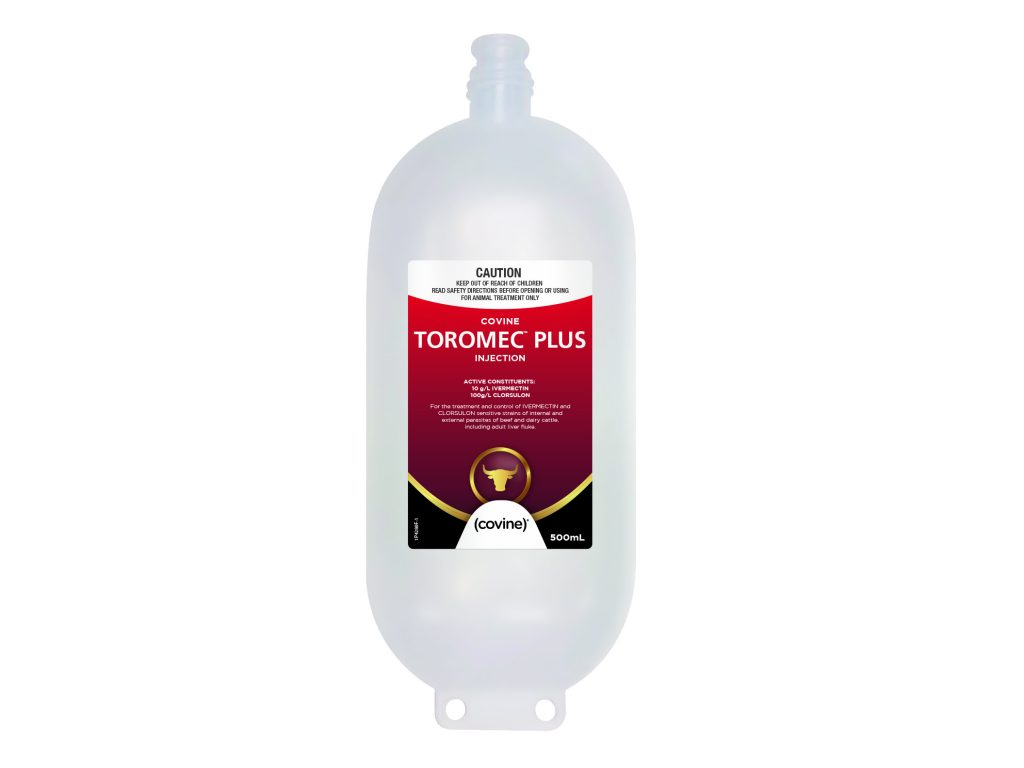 For the treatment and control of IVERMECTIN and CLORSULON sensitive strains of internal and external parasites of beef and dairy cattle, including adult liver fluke.