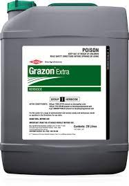 Grazon Extra is primarily used for brushweed control plus difficult to control broadleaf weeds in fallow situations in northern Australia. In Southern Australia it is the standard for volunteer lucerne removal prior to cereal cropping.