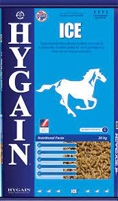 Hygain Ice is a high fibre, low starch, fortified pellet scientifically formulated to provide cool slow release energy for calm conditioning and healthy gut function.