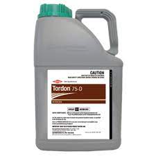 Tordon-75-D is registered as a spray treatment for control of a wide range of annual and perennial broadleaf weeds in various crops and non-agricultural areas.