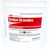 Tordon Granules Weed and Brush Herbicide contains the active ingredient Picloram, which has activity on a wide range of broadleaf weeds.