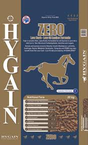 Do you have a horse that is prone to Laminitis, Cushings, Equine Metabolic Syndrome, Tying Up or Insulin Resistance? Then do not wait and start feeding HYGAIN ZERO the low starch and low sugar complete horse feed today before it's too late.