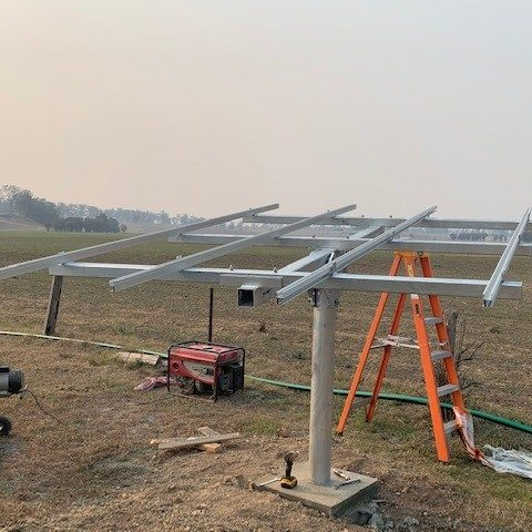 Construction of solar pump by Gloucester Rural Supplies